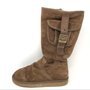 Ugg Retro Cargo Brown Suede Boots 9